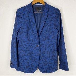 BANANA REPUBLIC Navy Blue Floral Blazer 12